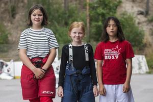 Nellie Nord, Thea Gilén och Maja Holén var tre tjejerna som deltog.
