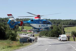 Jakten pågick i tre dagar. Sveriges mest eftersökta rymlingar hittades, en efter en, på olika platser i Sorunda och i Grödinge. Foto: Jonas Ekströmer/TT