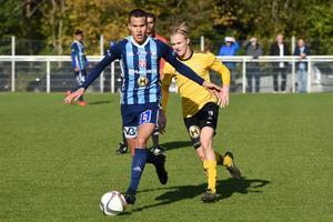 Sebastian Dimitrijevic gjorde Husqvarna FF:s första mål i 2-0-segern mot Räppe.