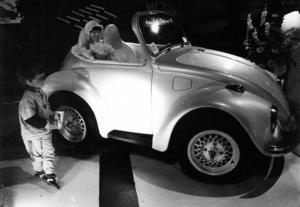 En förkortad VW var kanske mässans gulligaste 1986.