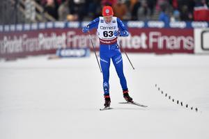 Axel Ekström fick åka världscupen i Ulricehamn i IFK Moras dräkt, i så kallad nationell kvot, men slog ändå till och blev näst bäste svensk, före fem av sex åkare i landslagsdress.