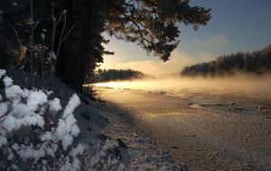 Så här såg Österdalälven ut 2009 när det var minus 20 grader.