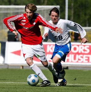 John Hörnfeldt hade flera chanser att näta, men missade.