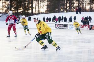 Misha Svechnikov under säsongens sista match för Ljusdal – på Kalix IP. Blir det en fortsättning nästa säsong är den stora frågan?