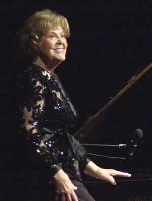 Eva Engdahl fotograferad i samband med en konsert i Dalarna 2004.