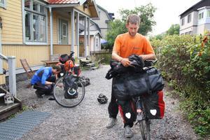 Lucas och Matthieu De Mot är på väg mot Nordkap.
