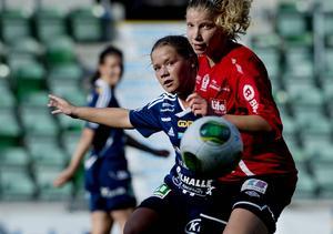 Amanda Månsson har gjort en succéartad comeback med fyra mål på tre matcher sedan den 4 augusti. Det senaste i går under SDFF:s 30-årsfirande.