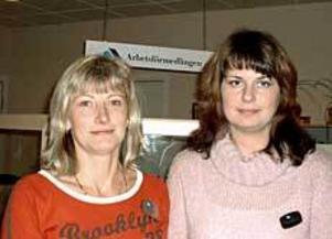 Lotta Pettersson och Ann Olsson på arbetsförmedlingen i Hofors jobbar på heltid med att hjälpa unga arbetslösa till praktik och jobb. Foto: ULF GRANSTRÖM