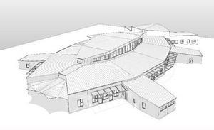 Så här ska den nya förskolan på Lövsta se ut. Som en skalbagge eller varför inte ett rymdskepp.   Illustration: Magnus Nordlöf/Månsson och Hansson AB