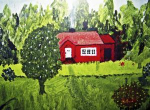 Inger Håkanssons målning är en av illustrationerna i