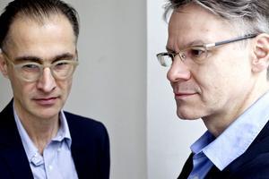 Aris Fioretos och Durs Grünbein.
