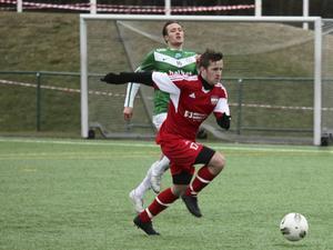 Härnösands Robin Bergman satte två mål mot Anundsjö.   Foto: TOMAS FRÅNLUND/ARKIV