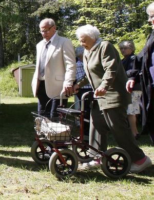 Märta Hedman kom från Iggesund. Det är snart nittio år sedan hon började skolan, i Långmor.