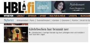 Även finska Hufvudstadsbladet rapporterar om att bocken än en gång brunnit ner.