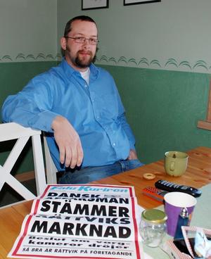 Magnus Wikman vid Rättviks marknad vill inte gå med på den förlikning som erbjudits av danske affärsmannen Bjørn Hansen.