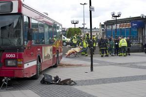 28 maj skenade en stadsbuss ner på Södermalmstorg i Stockholm.