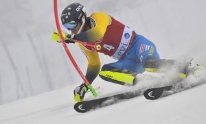 Alpina världscupen herrar slalom åk 1: André Myhrer innan dagen var för hans del.