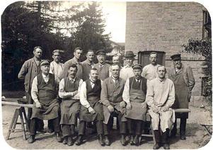 Anställda. Personal vid mitten av 1920-talet. Ur E. A. Setterquist & Son Eftr.:s arkiv.