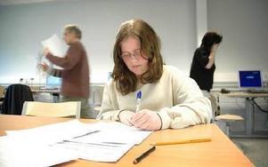 Anne-Sofie Hjelm, 8C, planerar en film om sin skola.