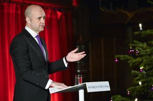 Statsminister Fredrik Reinfeldt (M) jultalade på Skansen i går.