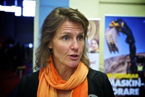 Maria Rolander, vd för Näringslivet Falun-Borlänge, var nöjd med att företagsmässan på nytt lockat så många utställare. Foto:Claes Söderberg