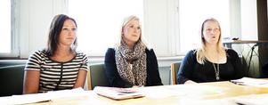 SAMARBETAR. Lisa Johansson, Jessica Ulvhag och Anna Olsson styr upp friska aktiviteter i södra Hälsingland under årets Folkhälsoväcka.