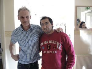 Krister Andersson och Alexi Petrov har blivit vänner under de månader som Vinternatt varit öppet i Falun.