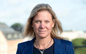 Magdalena Andersson, ekonomiskpolitisk talesperson för Socialdemokraterna. Foto: Anders Löwdin