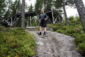 CK Örnens ordförande Ebbe Glud i spåret