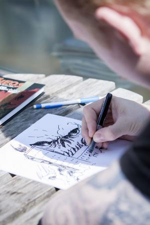 Vi bad Daniel Thollin att illustrera vad som ger honom inspiration.
