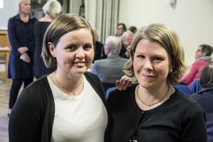 Anna Ekström och Karin Orvik Blanksvärd deltog i ortdialogen.