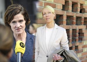 Vänster: Anna Kinberg Batra, Moderaternas partiledare. Höger: Saila Quicklund (M), riksdagsledamot. Bilden är ett montage.