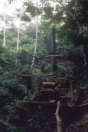 Resterna av den ångbåt som användes under inspelningen av