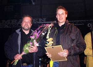 Sven Öhlén och Mattias Liljefjäll, på Hotel Nordica, blev årets turistföretag.