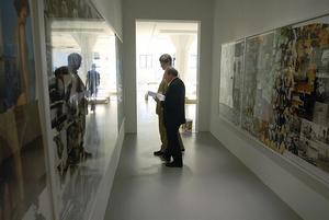 David Neuman, museichef på Magasin III, tillsammans med museets styrelseordförande Robert Weil. Arkivbild.