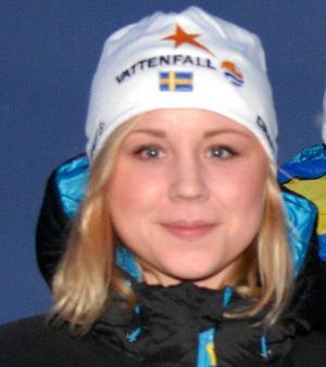 Vansbros Julia Svan körde första sträckan i det svenska guldlaget.