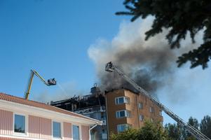 Lägenhetsbrand Önsta-Gryta Västerås Näckrosvägen bränder brandkår räddningsinsats