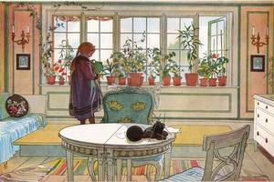 Som fönstret såg ut i Carl Larssons målning