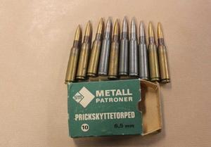 Polisen hittade kulammunition som mannen inte hade tillstånd att ha.