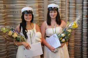 Linnea Boquist och Caroline Seger tilldelades Vård- och omsorgsförvaltningens och Avesta lasaretts stipendium.