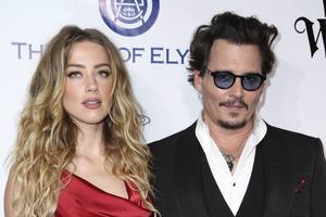 Amber Heard och Johnny Depp. Arkivbild.