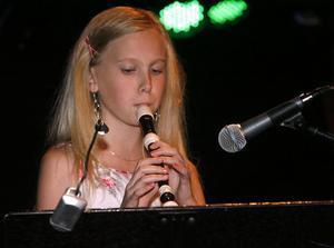 Jenny Hännestrand spelade Celine Dions klassiker My heart will go on på blockflöjt.