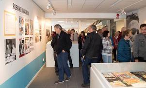 Över 150 personer sökte sig till Sixten Jernbergs Museum när det åter öppnades efter en stor tillbyggnad.
