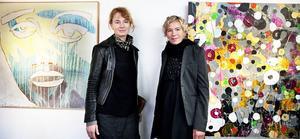 Camilla Pyk och Kajsa-Tuva Henriksson är vänner sin tidigare, men ställer nu ut tillsammans för första gången. Utställningen heter