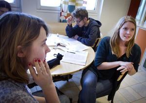 Alice Andersson, 18 år, Delsbo och Kajsa Lindvall, 18 år, Hudiksvall studerar på Bromangymnasiet. Båda anser att det borde finnas mer kulturutbud i Hudiksvall. August Borgström, 18 år, Hudiksvall, tycker att det finns en hel del att göra i Hudiksvall på fritiden, men han skulle vilja ha fler fritidsgårdar.