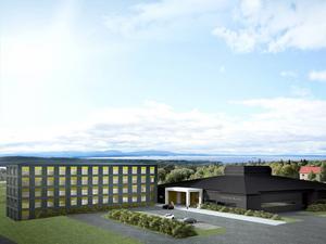 Så här ska Östersunds första nya hotell på 20 år se ut. Och det ligger på Frösö Park.