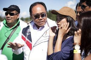 Några av ledarna i Bangkok Metropolitan Councils delegation under Storsjöcupen 2011. Nu vill man ha en vänortsrelation med Östersunds kommun.