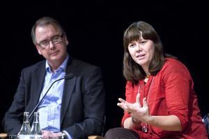 Christer Lindqvist, vd för Nordic Iron Ore, och Miljöpartiets språkrör Åsa Romson verkade i stort sett vara överens om miljöfrågorna kring öppnandet av gruvorna i Blötberget och Håksberg.