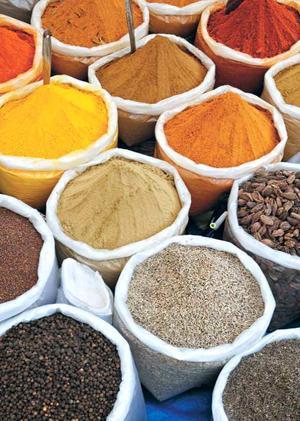 Mat och kryddor används som medicin inom ayurveda.