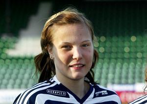 Lisa  Lantz  när hon precis värvats till Sundsvalls DFF för åtta år sedan.